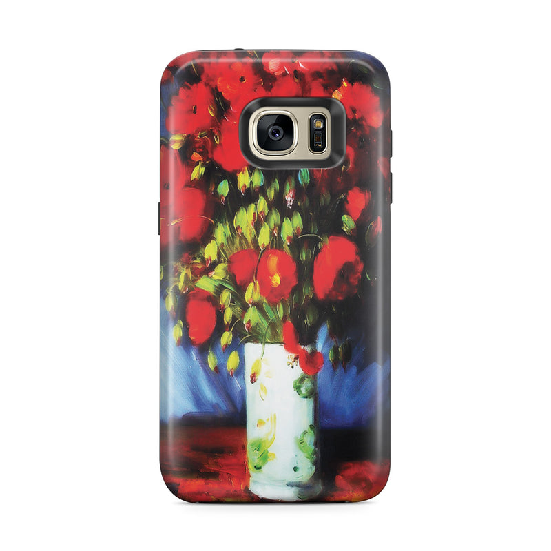 Galaxy S7 Edge Adventure Case - Vase with Red Poppies by Vincent Van Gogh