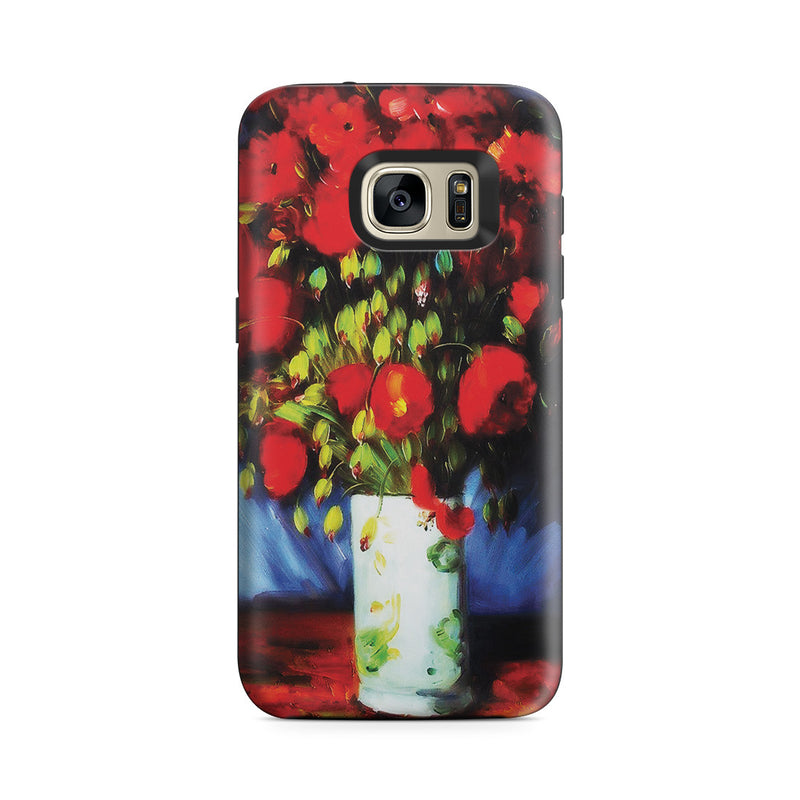Galaxy S7 Adventure Case - Vase with Red Poppies by Vincent Van Gogh