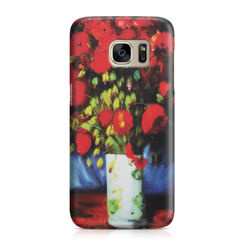 Galaxy S7 Case - Vase with Red Poppies by Vincent Van Gogh