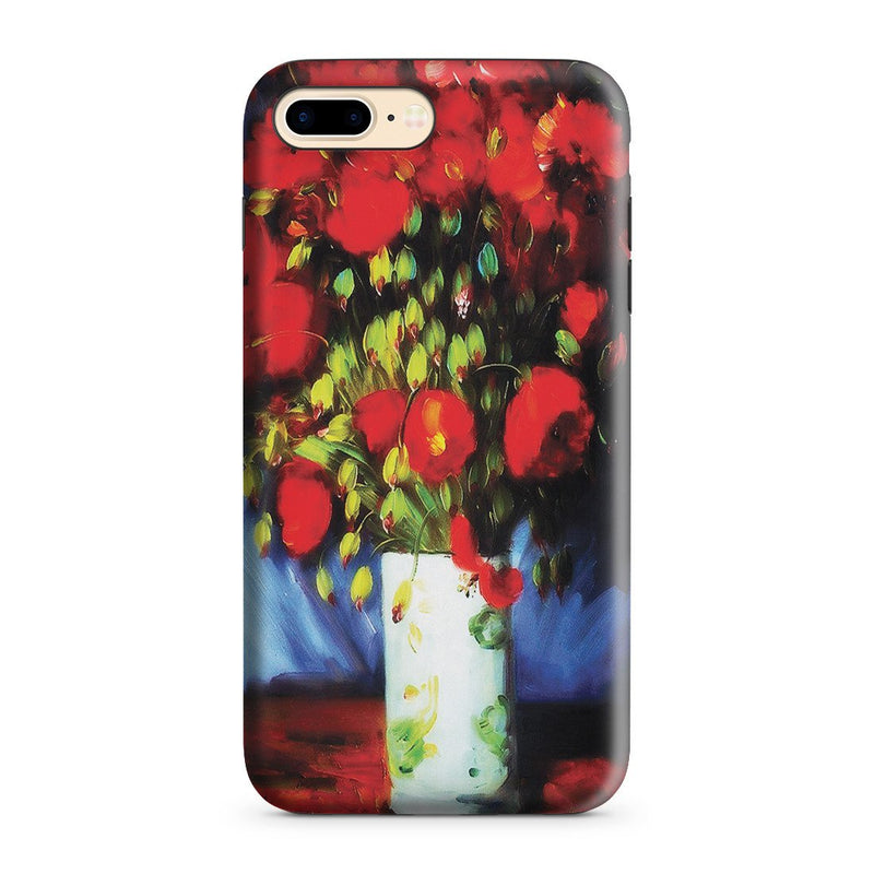 iPhone 8 Plus Adventure Case - Vase with Red Poppies by Vincent Van Gogh