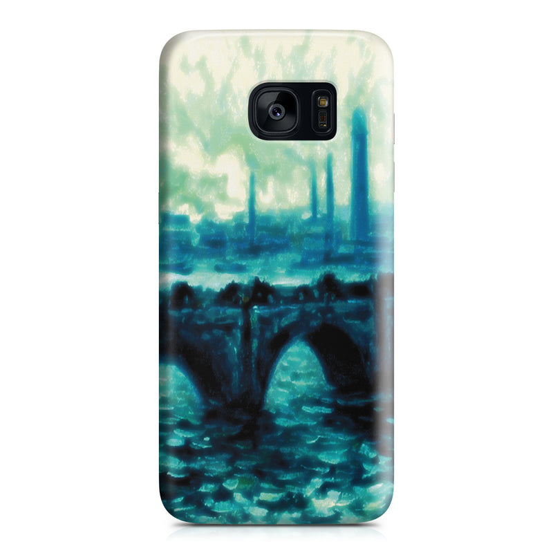 Galaxy S7 Edge Case - Waterloo Bridge by Claude Monet