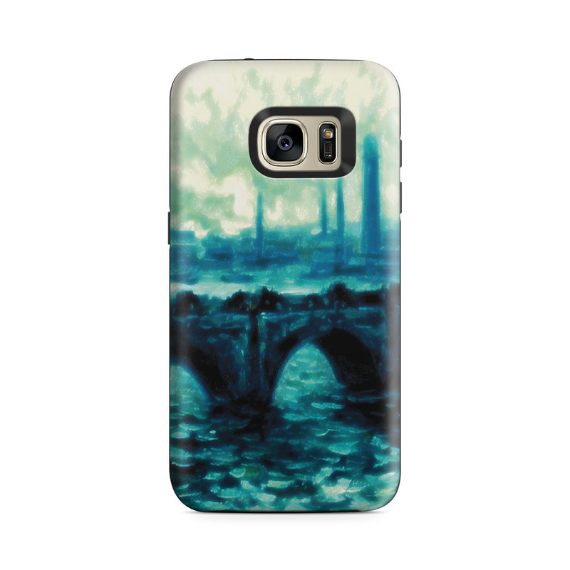 Galaxy S7 Adventure Case - Waterloo Bridge by Claude Monet