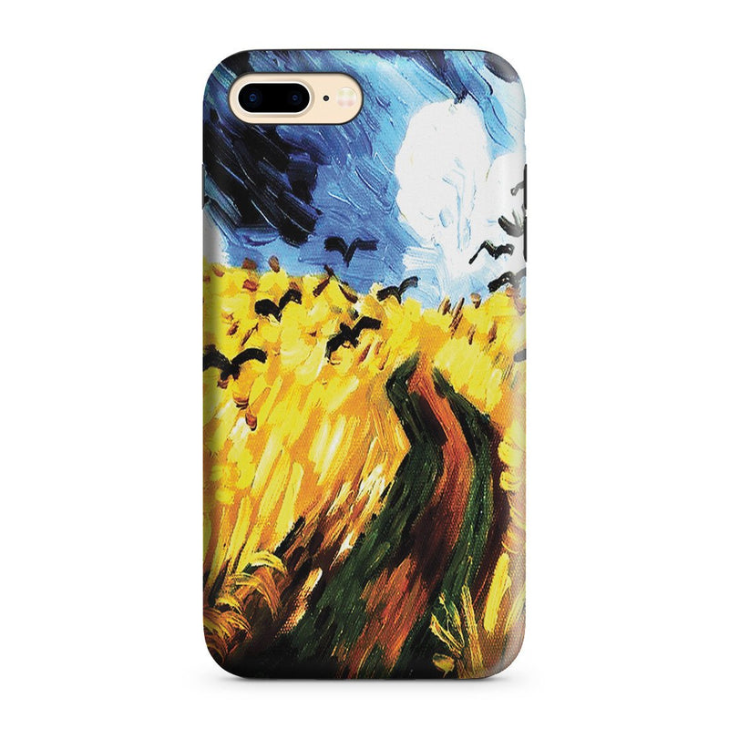 iPhone 8 Plus Adventure Case - Wheat Field With Crows by Vincent Van Gogh