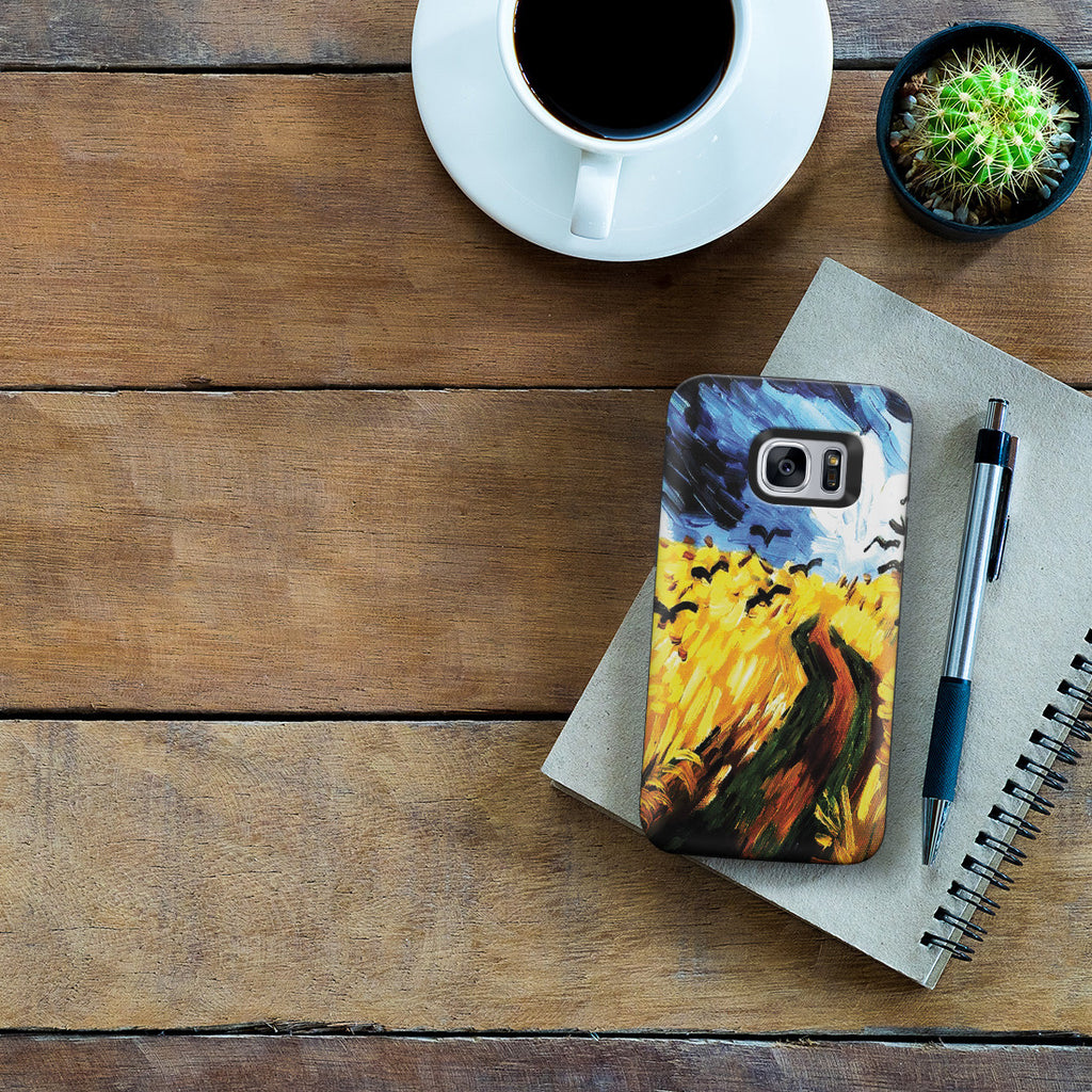 Galaxy S7 Adventure Case - Wheat Field With Crows by Vincent Van Gogh