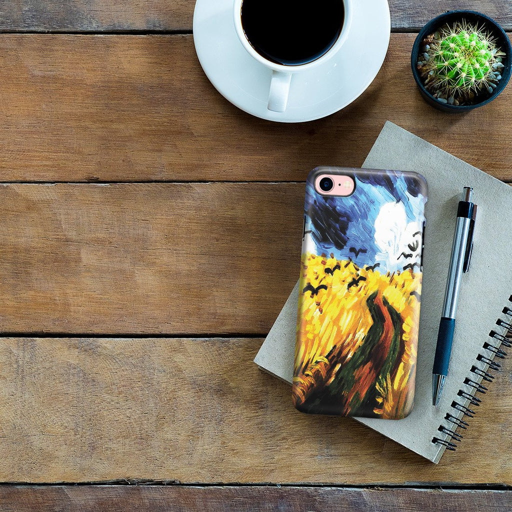 iPhone 8 Adventure Case - Wheat Field With Crows by Vincent Van Gogh