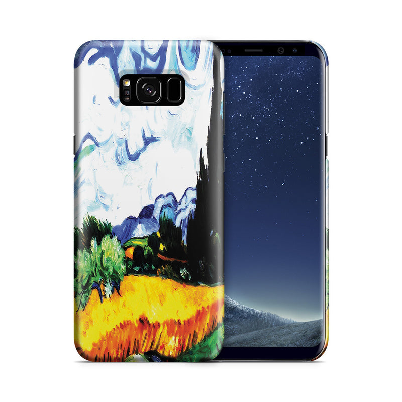 Galaxy S8 Plus Case - Wheat Filed with Cypresses by Vincent Van Gogh