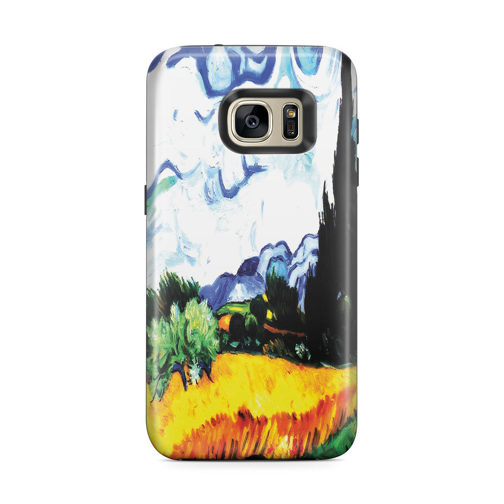 Galaxy S7 Edge Adventure Case - Wheat Filed with Cypresses by Vincent Van Gogh