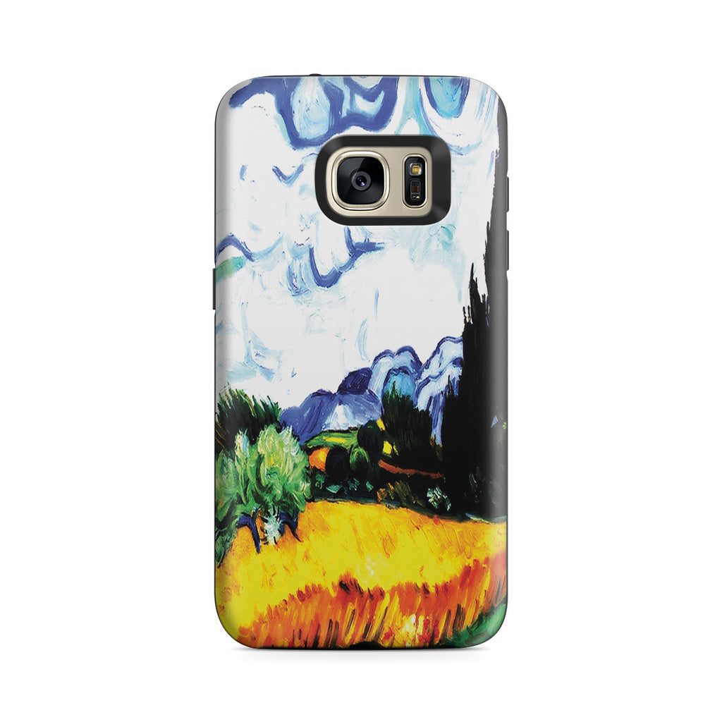 Galaxy S7 Adventure Case - Wheat Filed with Cypresses by Vincent Van Gogh