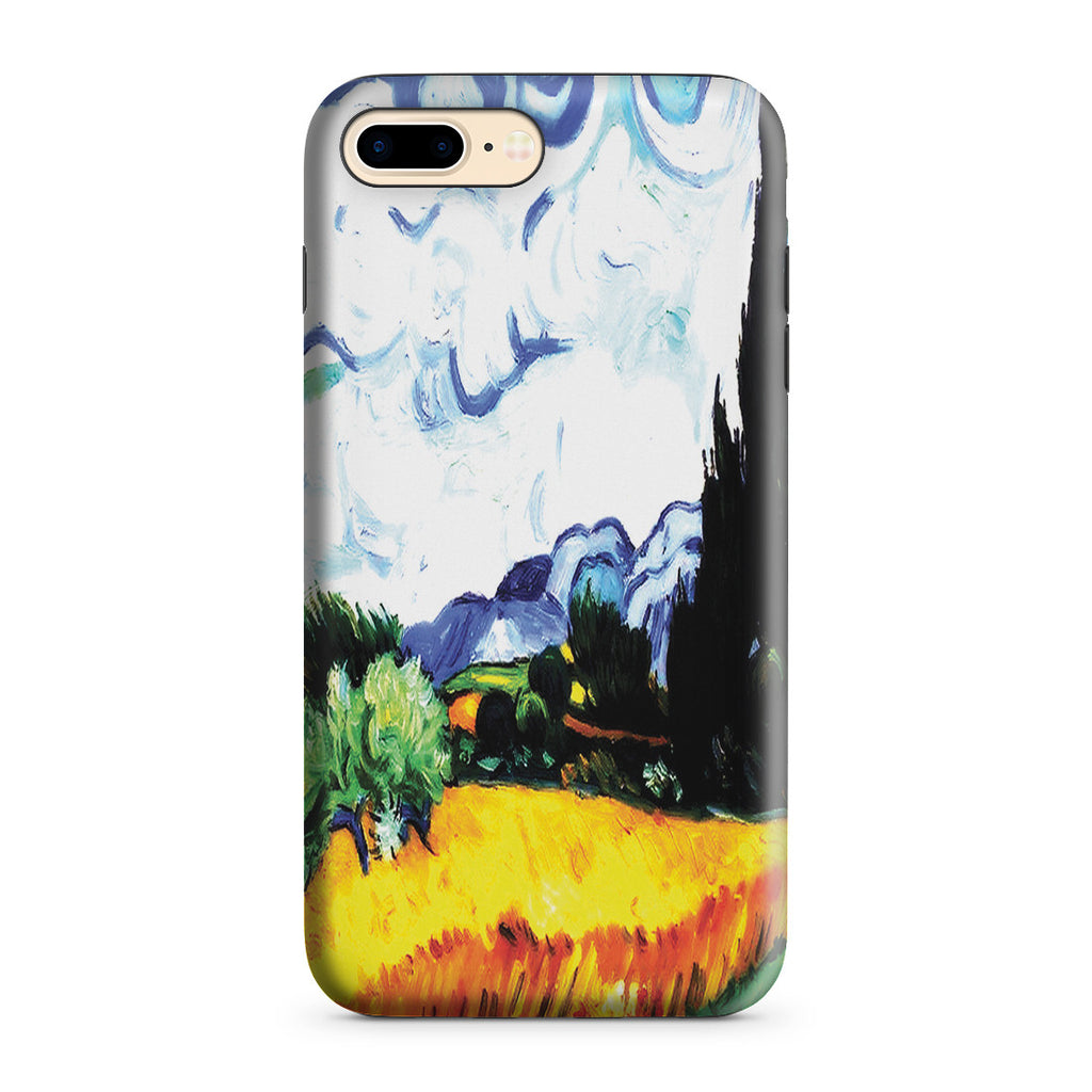 iPhone 7 Plus Adventure Case - Wheat Filed with Cypresses by Vincent Van Gogh