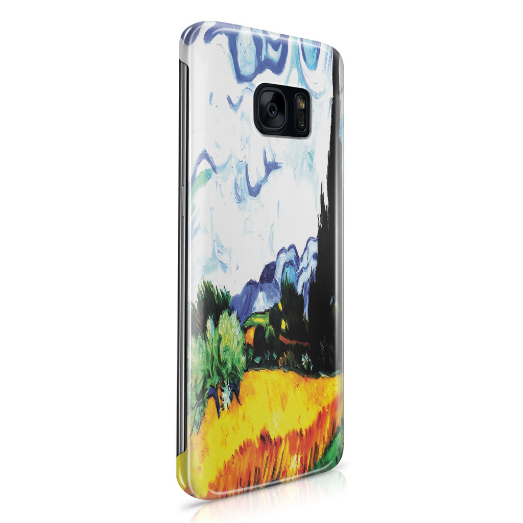 Galaxy S7 Edge Case - Wheat Filed with Cypresses by Vincent Van Gogh