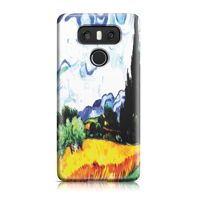 LG G6 Case - Wheat Filed with Cypresses by Vincent Van Gogh