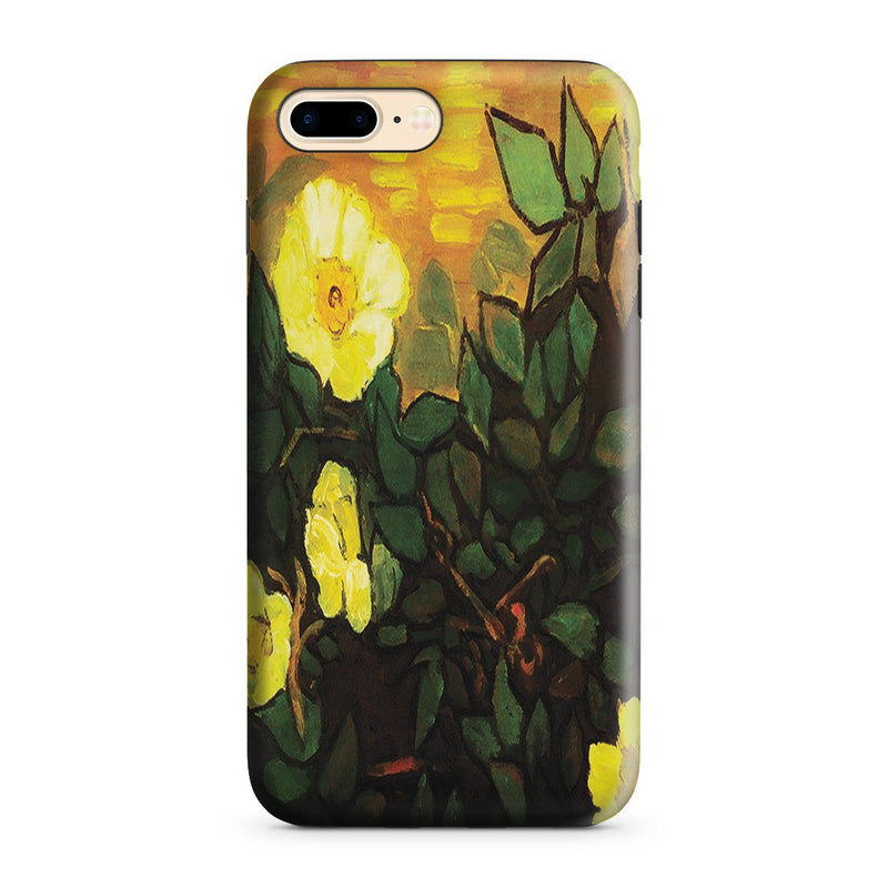 iPhone 8 Plus Adventure Case - Wild Roses by Vincent Van Gogh