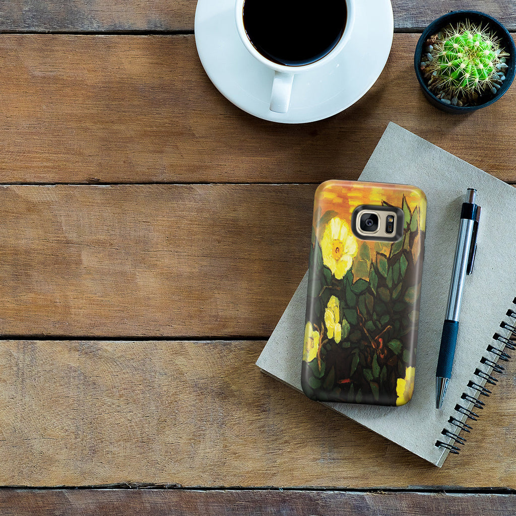 Galaxy S7 Edge Adventure Case - Wild Roses by Vincent Van Gogh