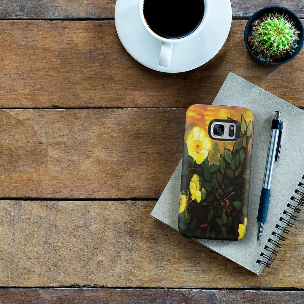 Galaxy S7 Adventure Case - Wild Roses by Vincent Van Gogh