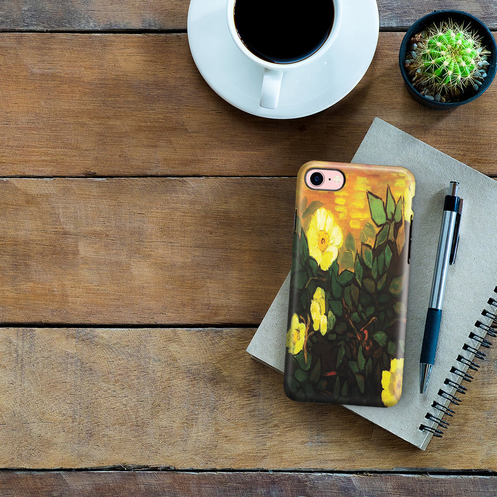 iPhone 7 Adventure Case - Wild Roses by Vincent Van Gogh