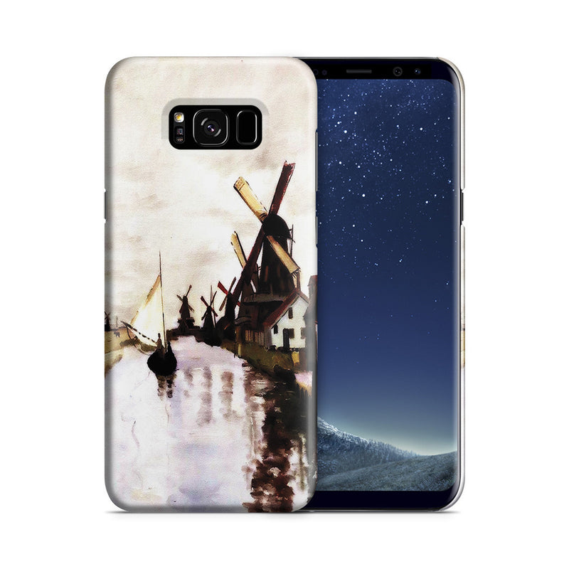 Galaxy S8 Case - Windmills In Holland by Claude Monet