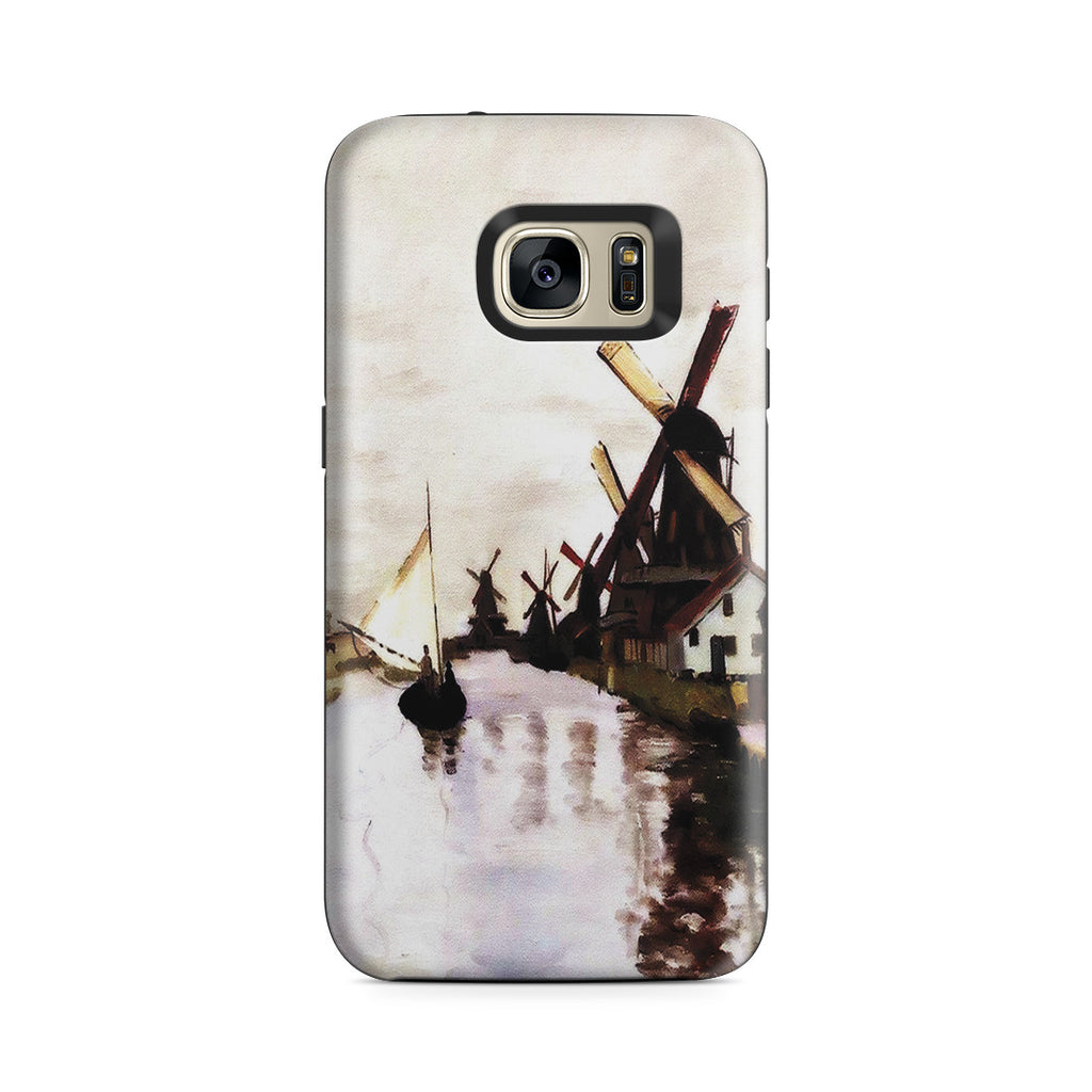 Galaxy S7 Adventure Case - Windmills In Holland by Claude Monet