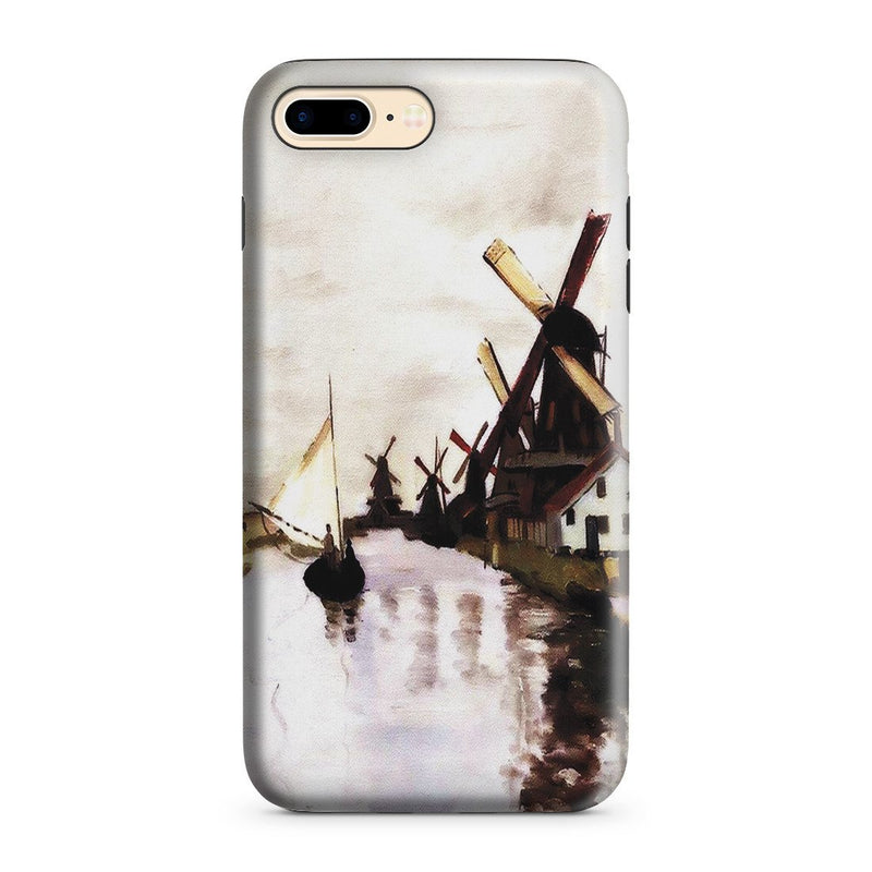 iPhone 8 Plus Adventure Case - Windmills In Holland by Claude Monet
