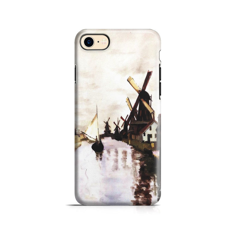 iPhone 8 Adventure Case - Windmills In Holland by Claude Monet