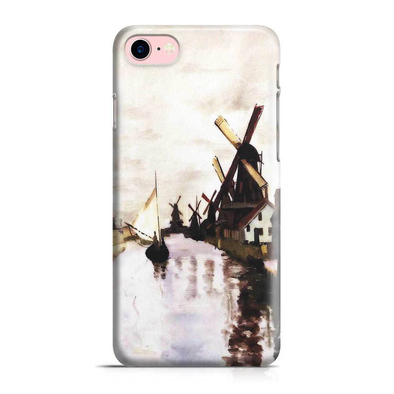 iPhone 7 Case - Windmills In Holland by Claude Monet