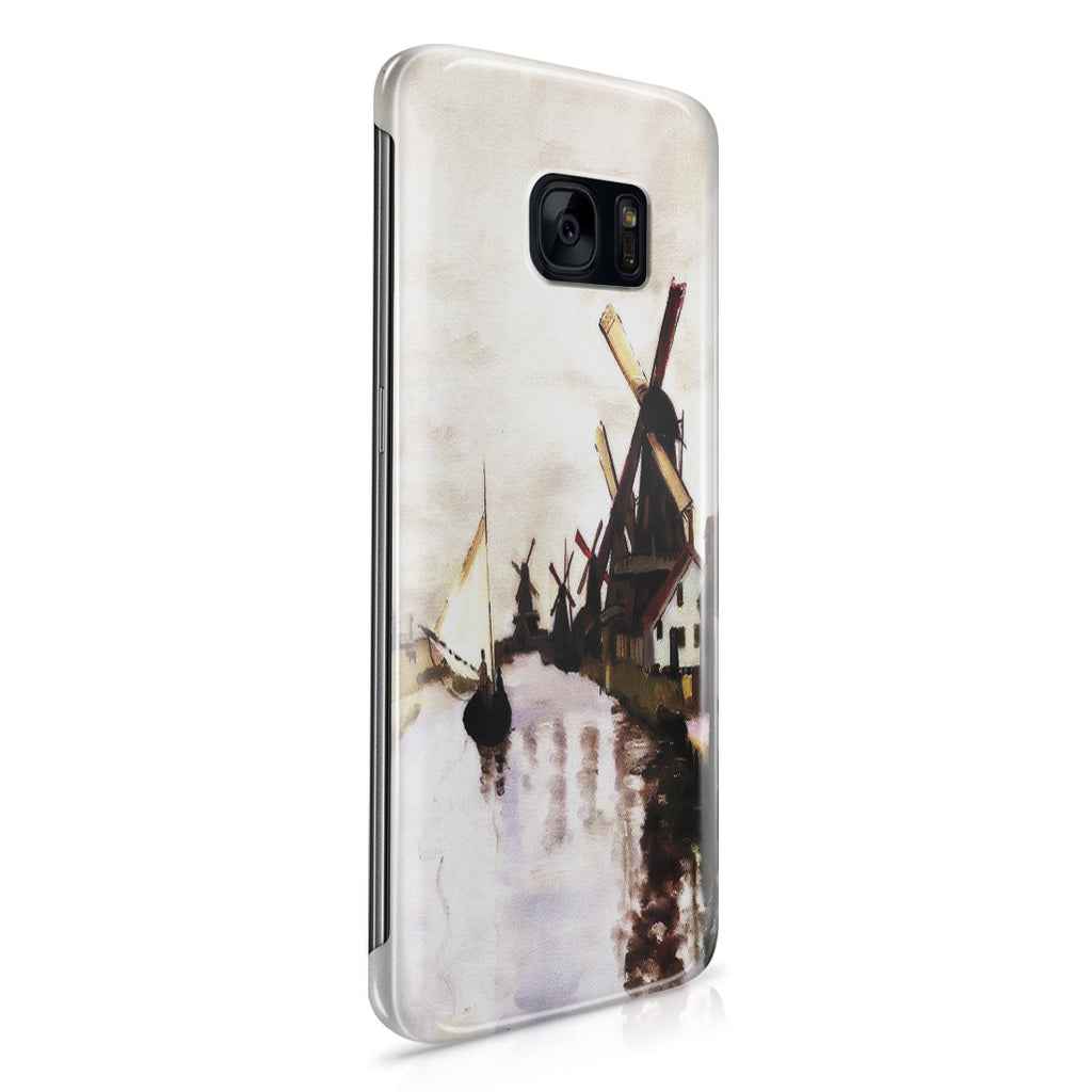 Galaxy S7 Edge Case - Windmills In Holland by Claude Monet