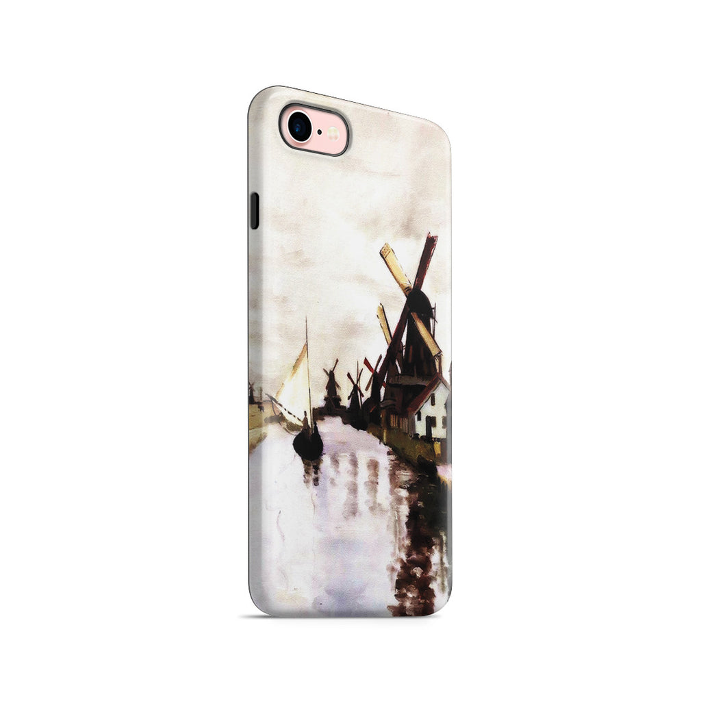 iPhone 7 Adventure Case - Windmills In Holland by Claude Monet