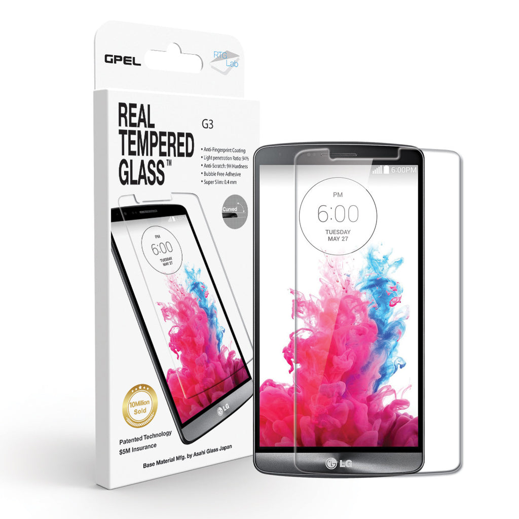 LG G3 Screen Protector - Real Tempered Glass - GPEL