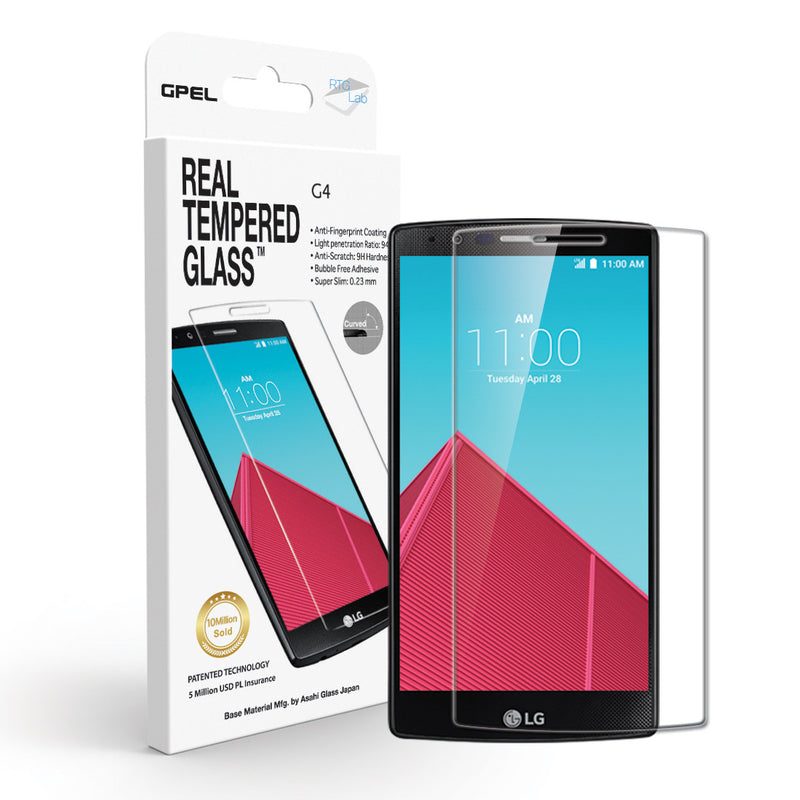 LG G4 Screen Protector - Real Tempered Glass - GPEL  - 1