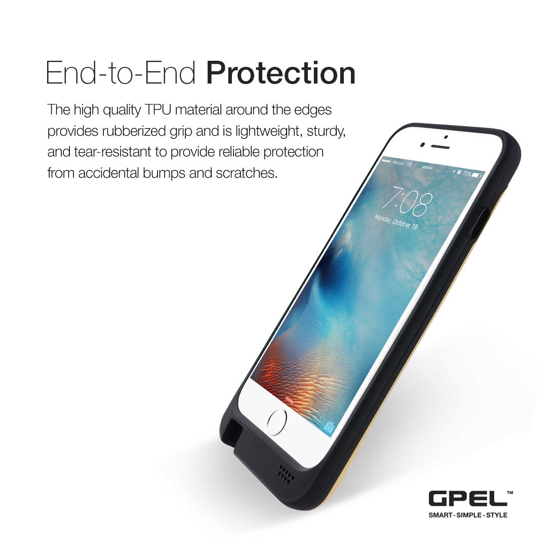 Iphone 6 6s Wireless Qi Charging Extended Battery Case Premium Simple Mobile Phone Charger