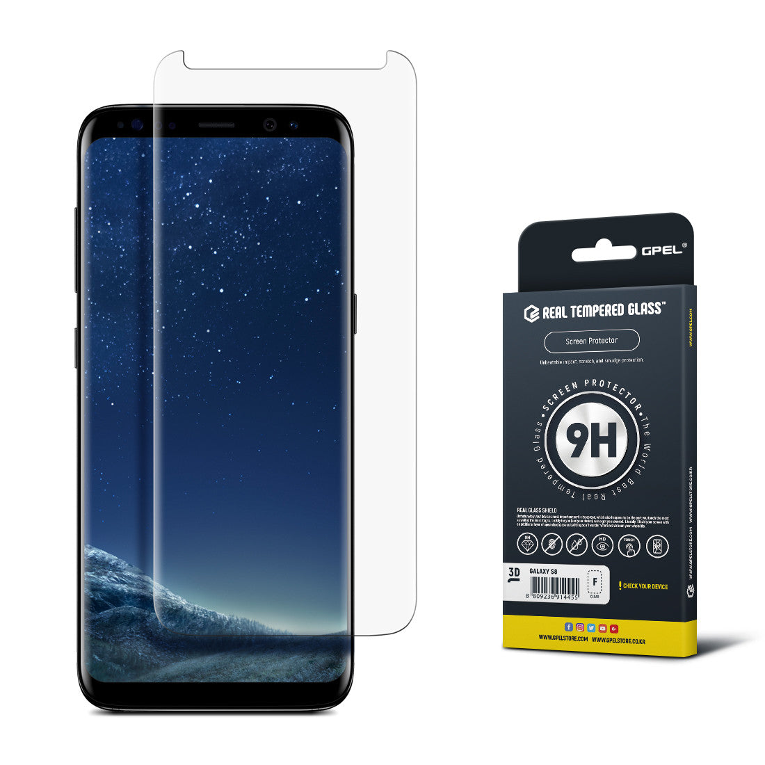 new product 20437 f149c Galaxy S8 - Full Coverage Tempered Glass Screen Protector