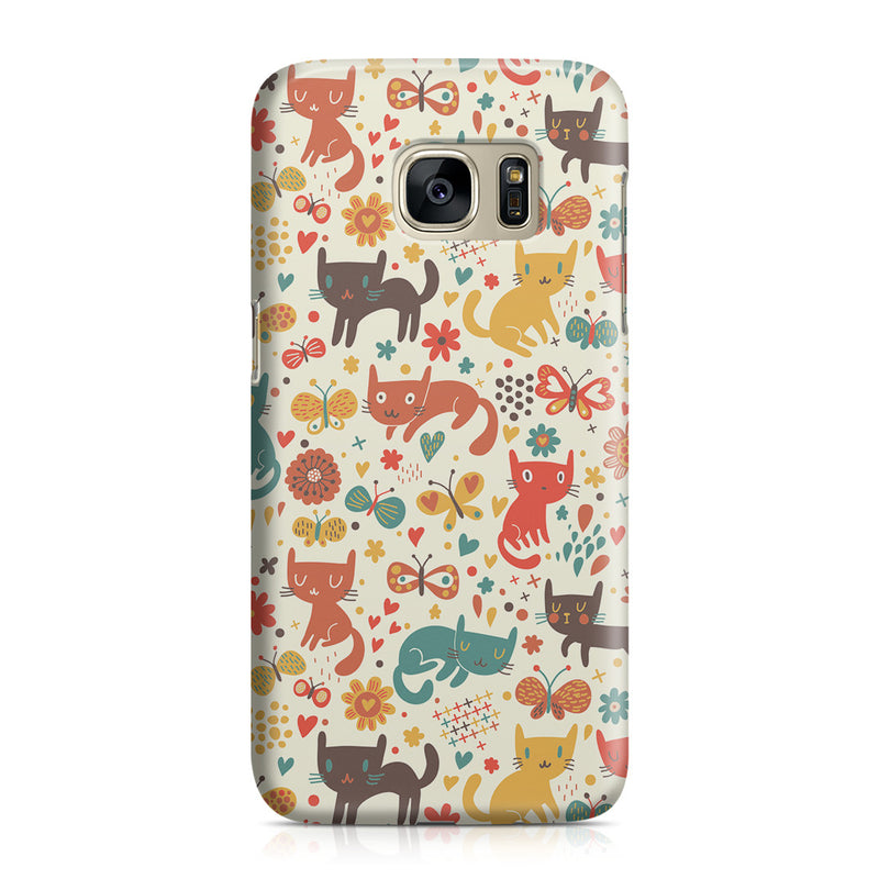 Galaxy S7 Case - Crayon Cat