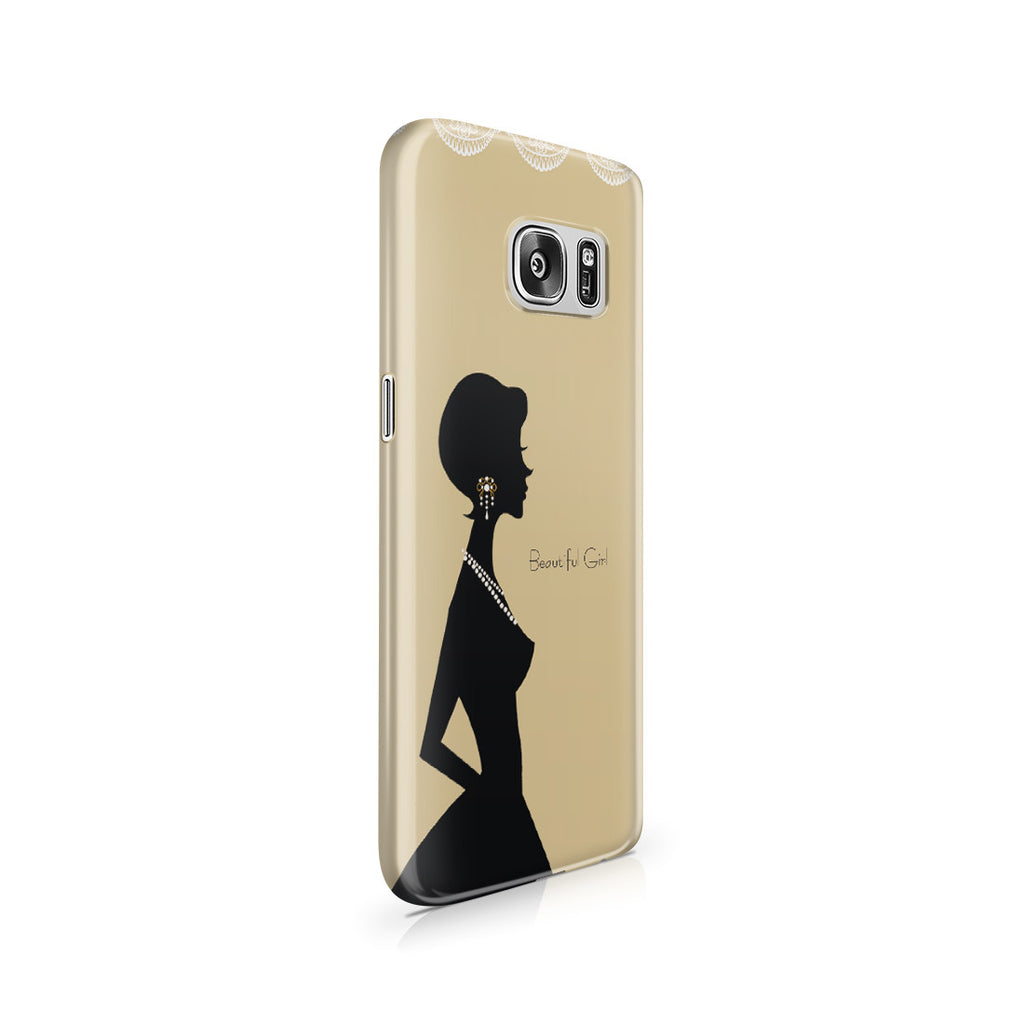 Galaxy S7 Case - Gold Silhouette