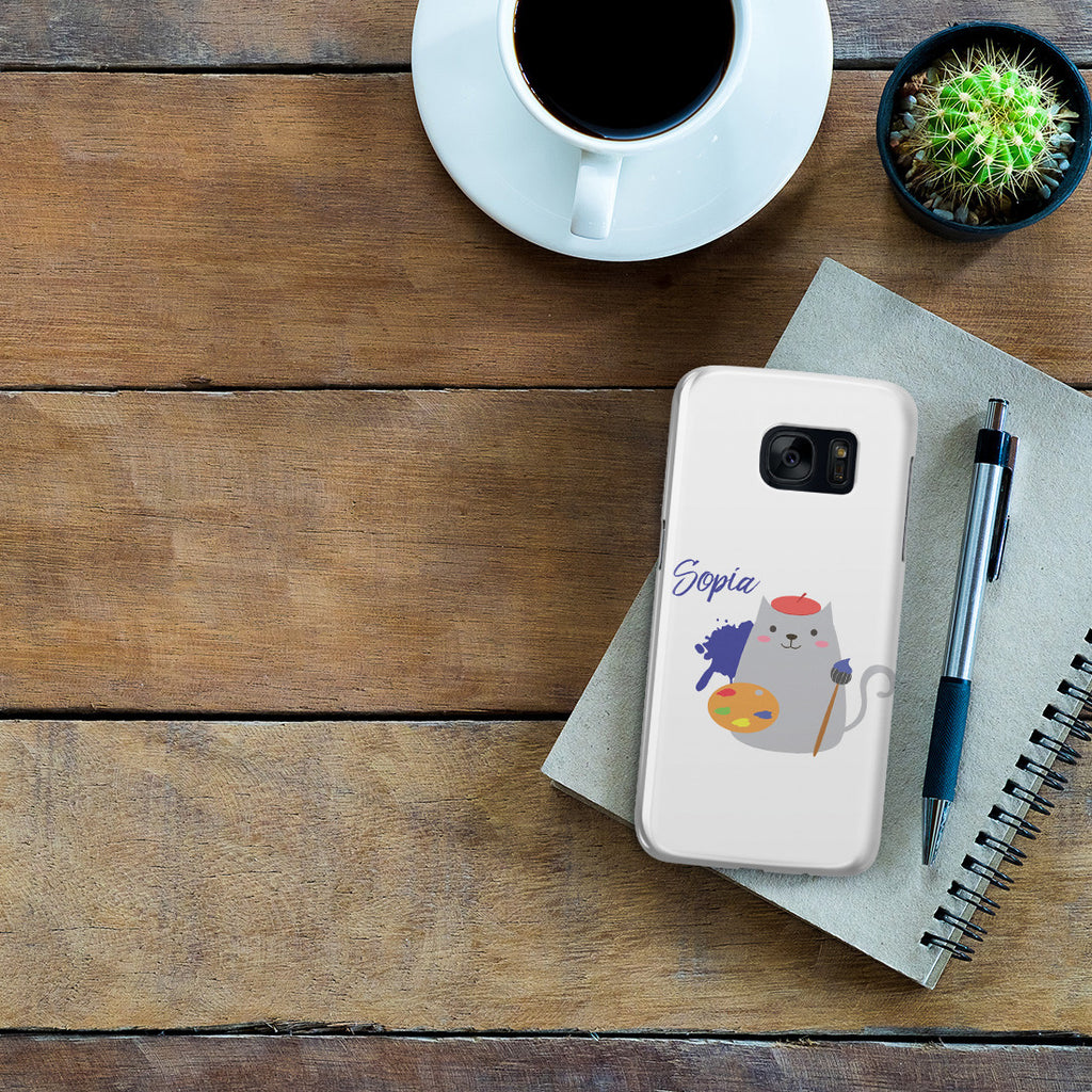 Galaxy S7 Case - Cat Artist