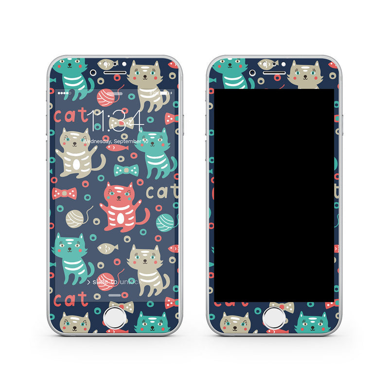 iPhone 7 Plus Vivid Glass Screen Protector - Cute Kitty