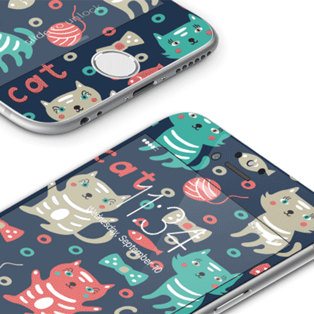 iPhone 7 Vivid Glass Screen Protector - Cute Kitty
