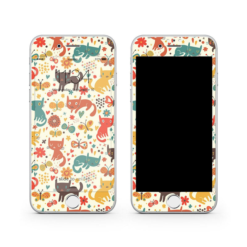 iPhone 8 Vivid Glass Screen Protector - Crayon Cat