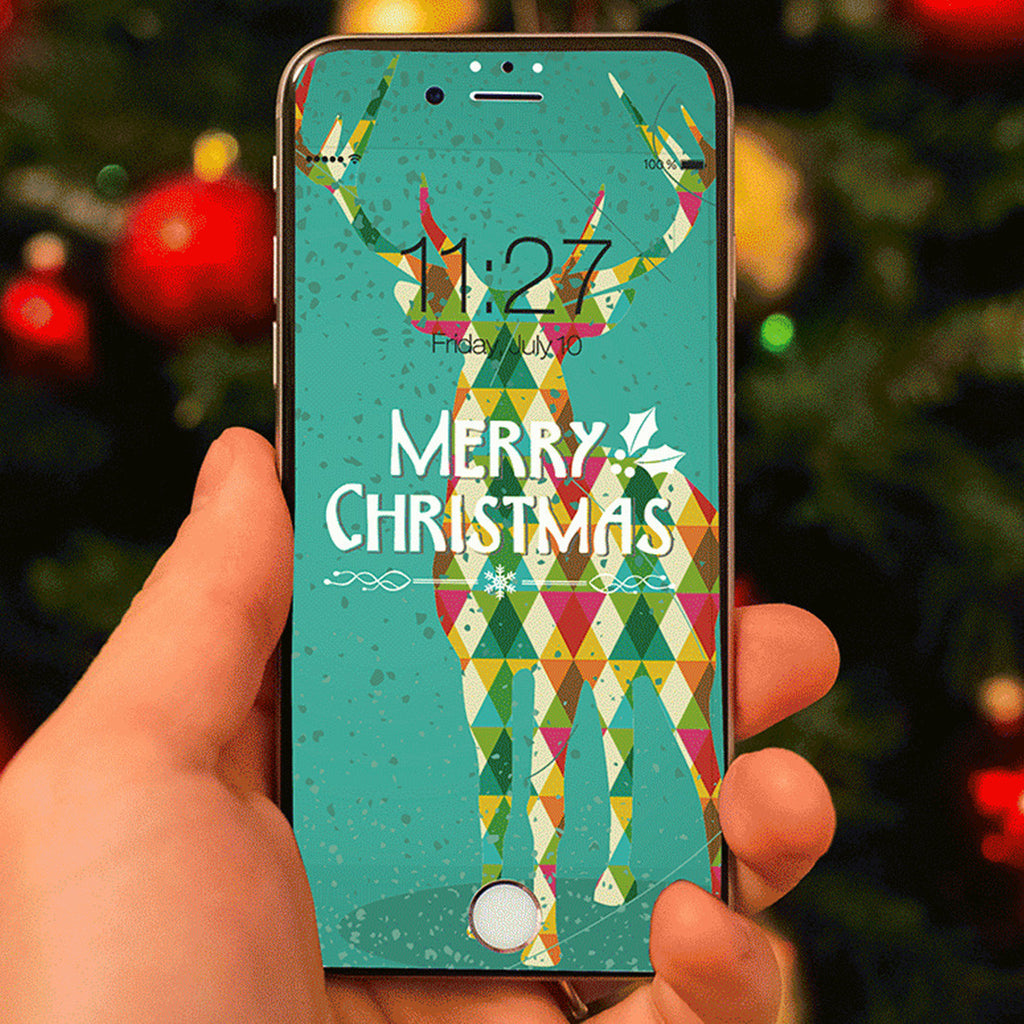 iPhone 7 Plus Vivid Glass Screen Protector - Merry Christmas