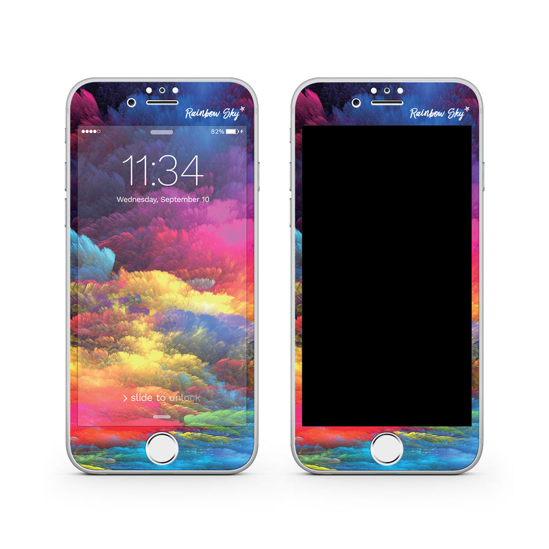 buy online 3bccd e875d iPhone 7 Vivid Glass Screen Protector - Rainbow Sky