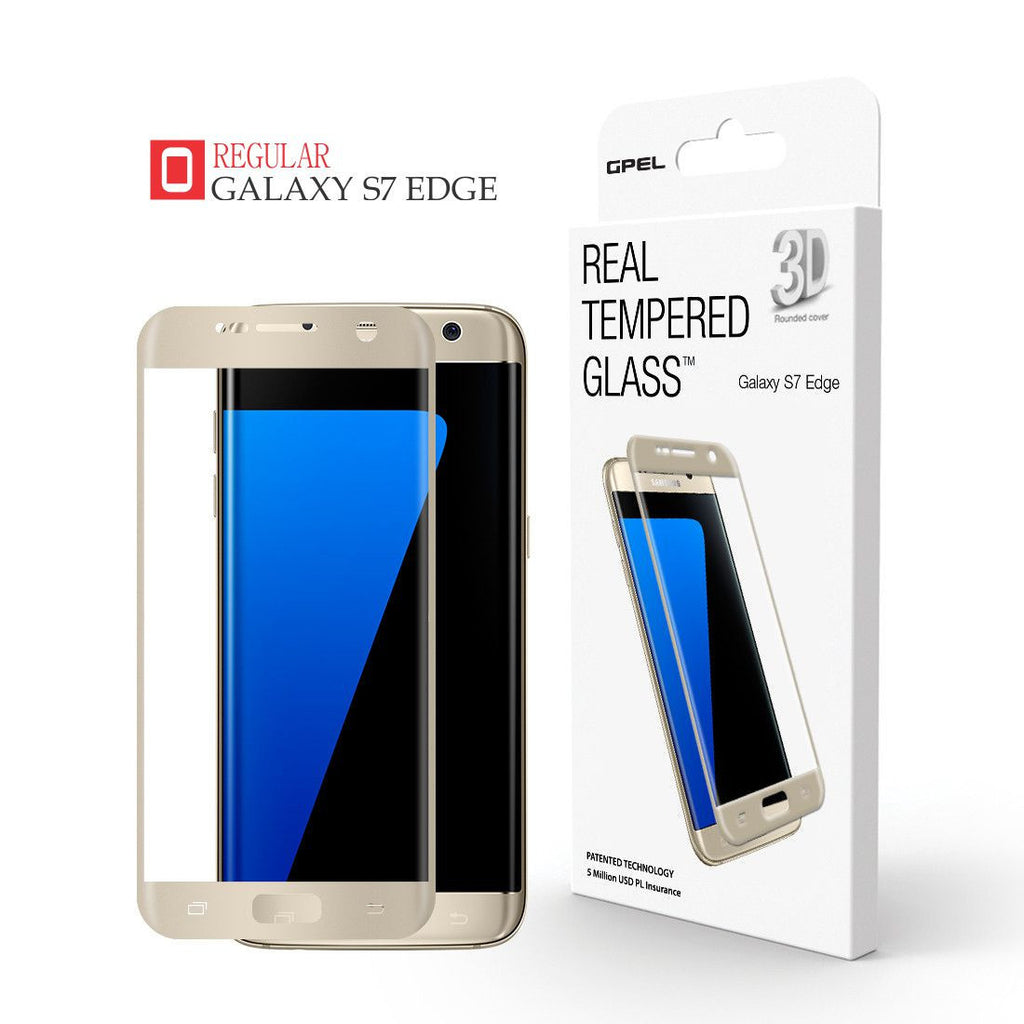 Galaxy S7 Edge - Full Coverage Tempered Glass Screen Protector