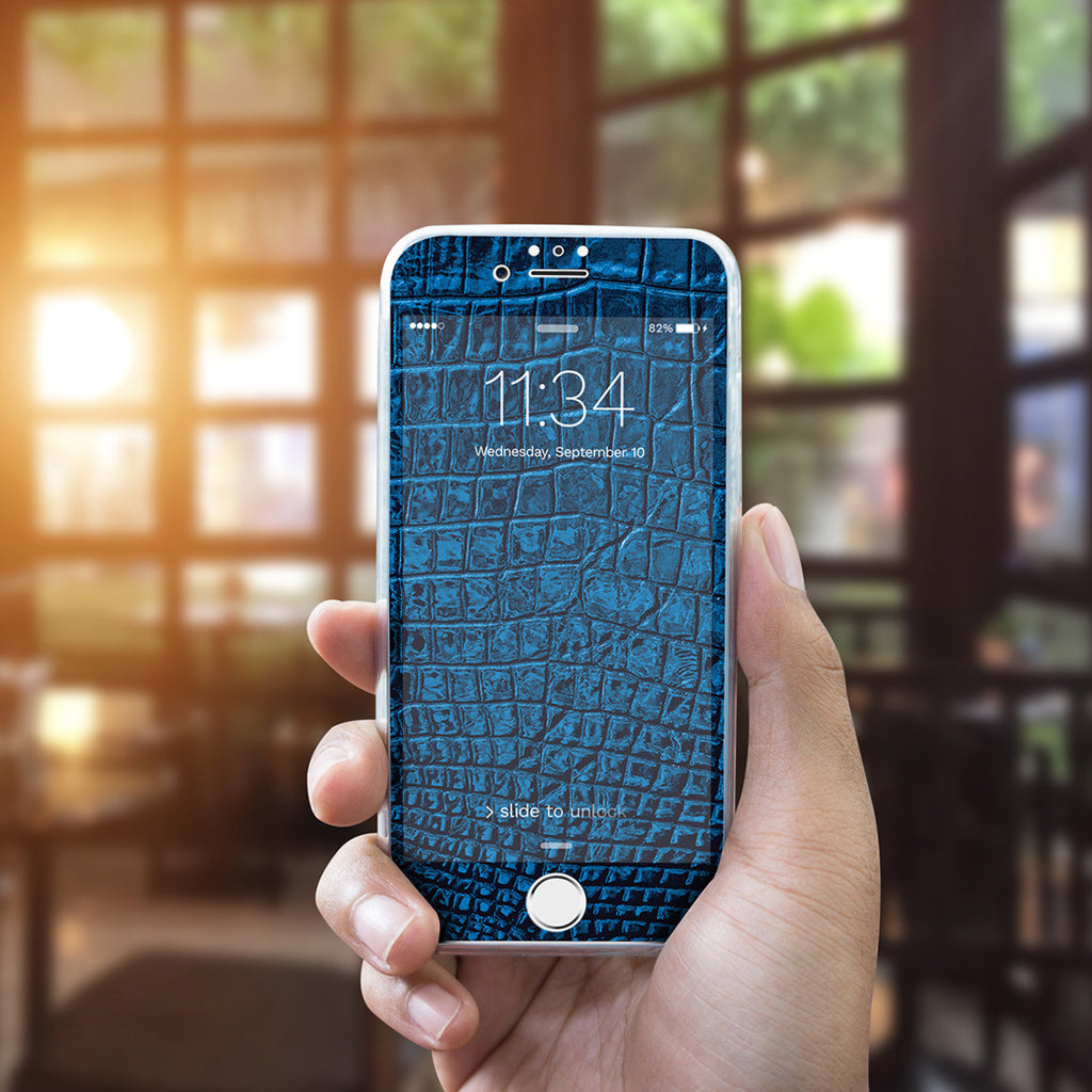 iPhone 7 Vivid Glass Screen Protector - Croco Leather