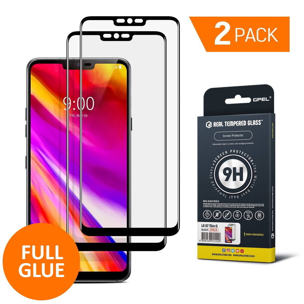 LG G7 ThinQ Screen Protector - Real Tempered Glass (2-PACK)