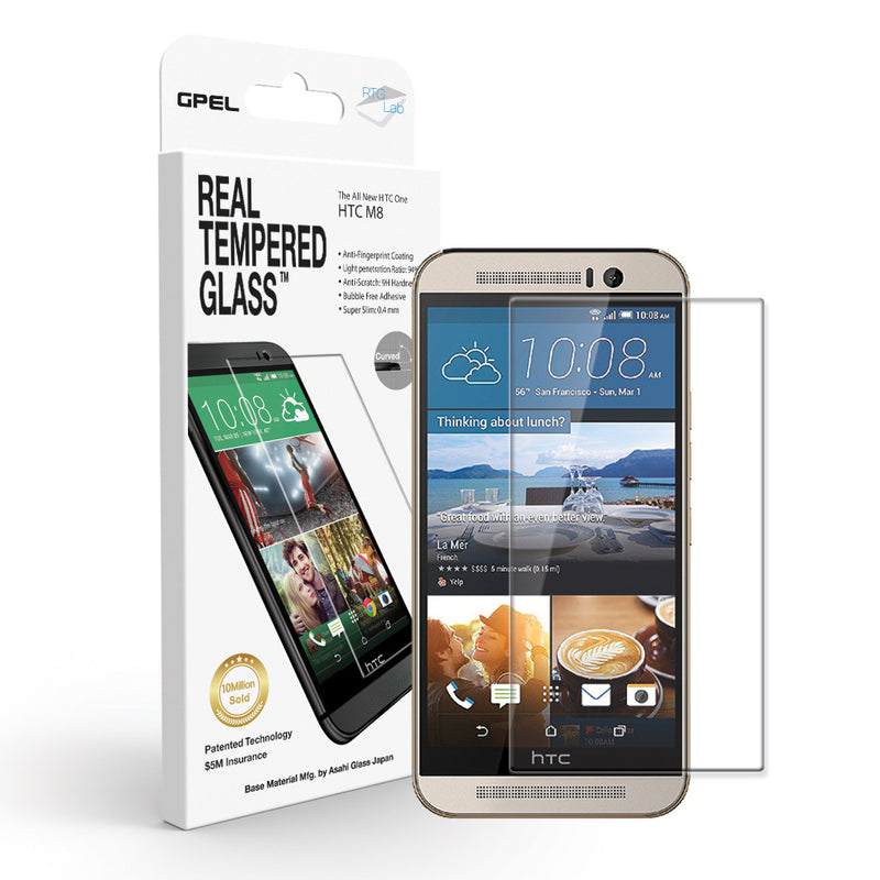 HTC ONE M8 Screen Protector - Real Tempered Glass - GPEL