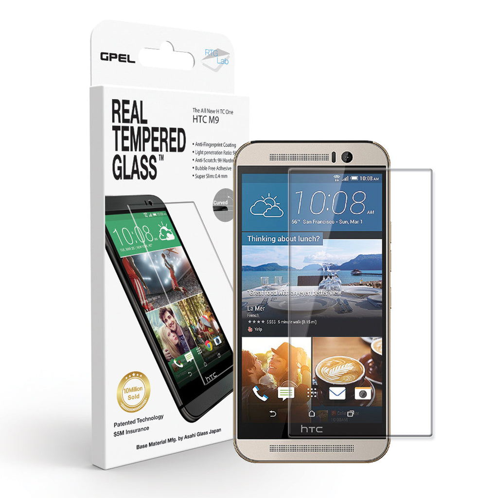 HTC ONE M9 Screen Protector - Real Tempered Glass - GPEL