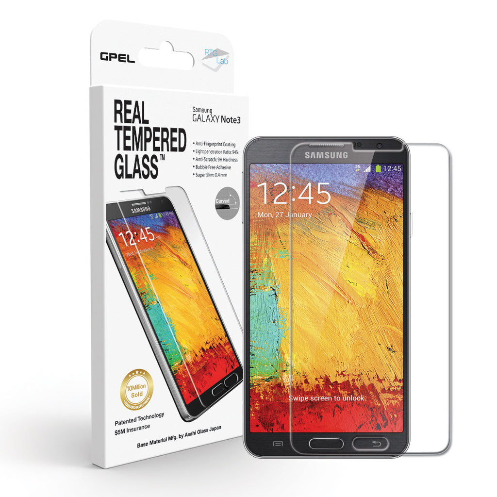 Galaxy Note 3 Screen Protector - Real Tempered Glass - GPEL