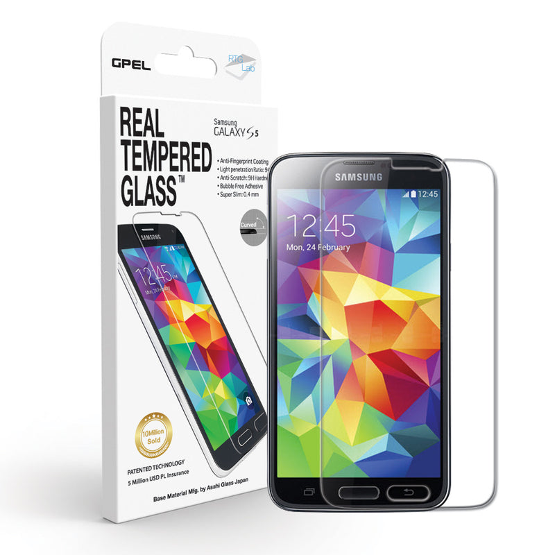 Galaxy S5 Screen Protector - Real Tempered Glass - GPEL