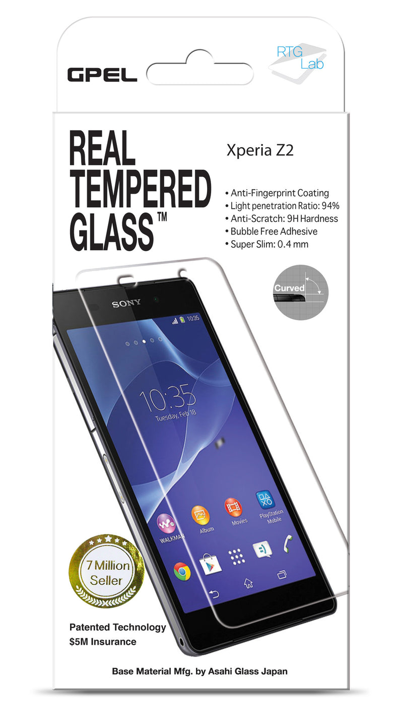 Sony Xperia Z2 Screen Protector - Real Tempered Glass - GPEL