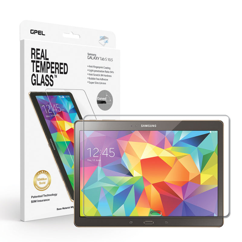 Galaxy Tab S 10.5 Screen Protector - Real Tempered Glass - GPEL