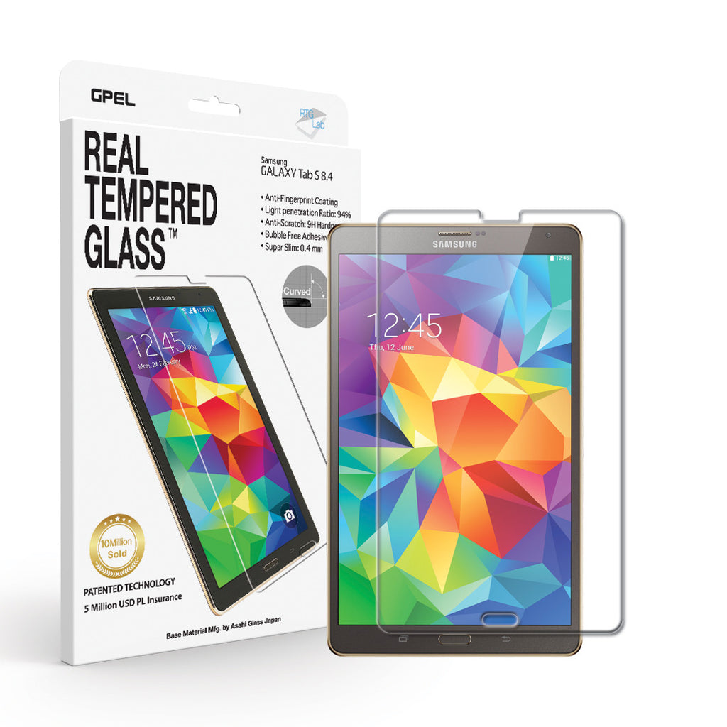 Galaxy Tab S 8.4 Screen Protector - Real Tempered Glass - GPEL