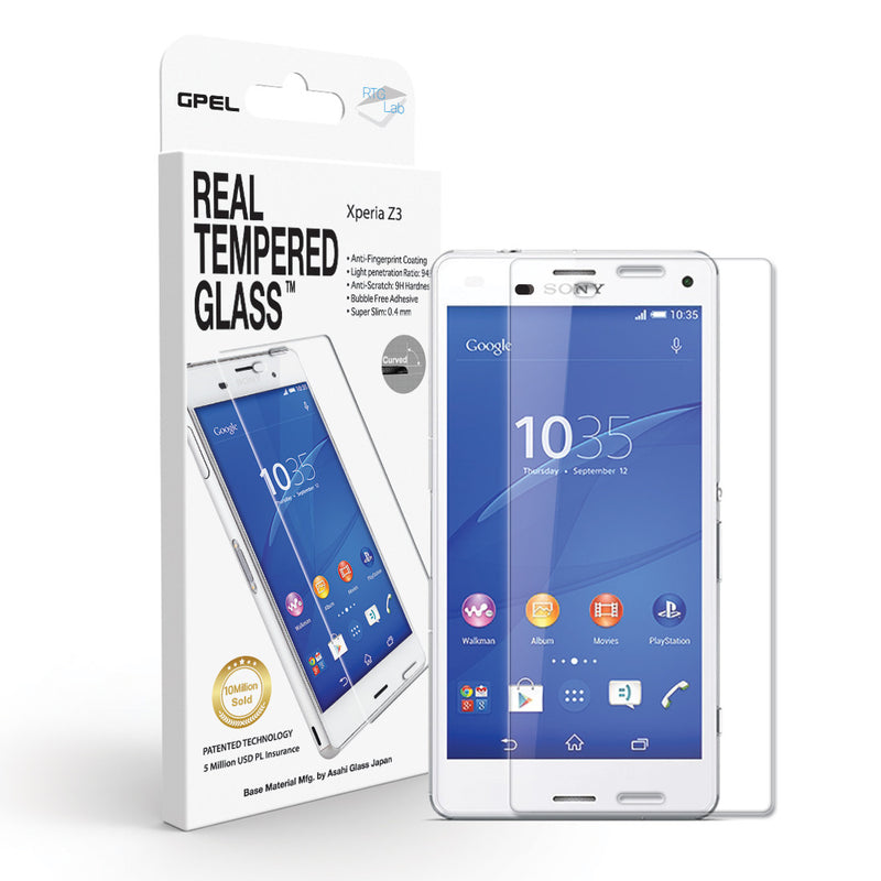 Sony Xperia Z3 Screen Protector - Real Tempered Glass - GPEL