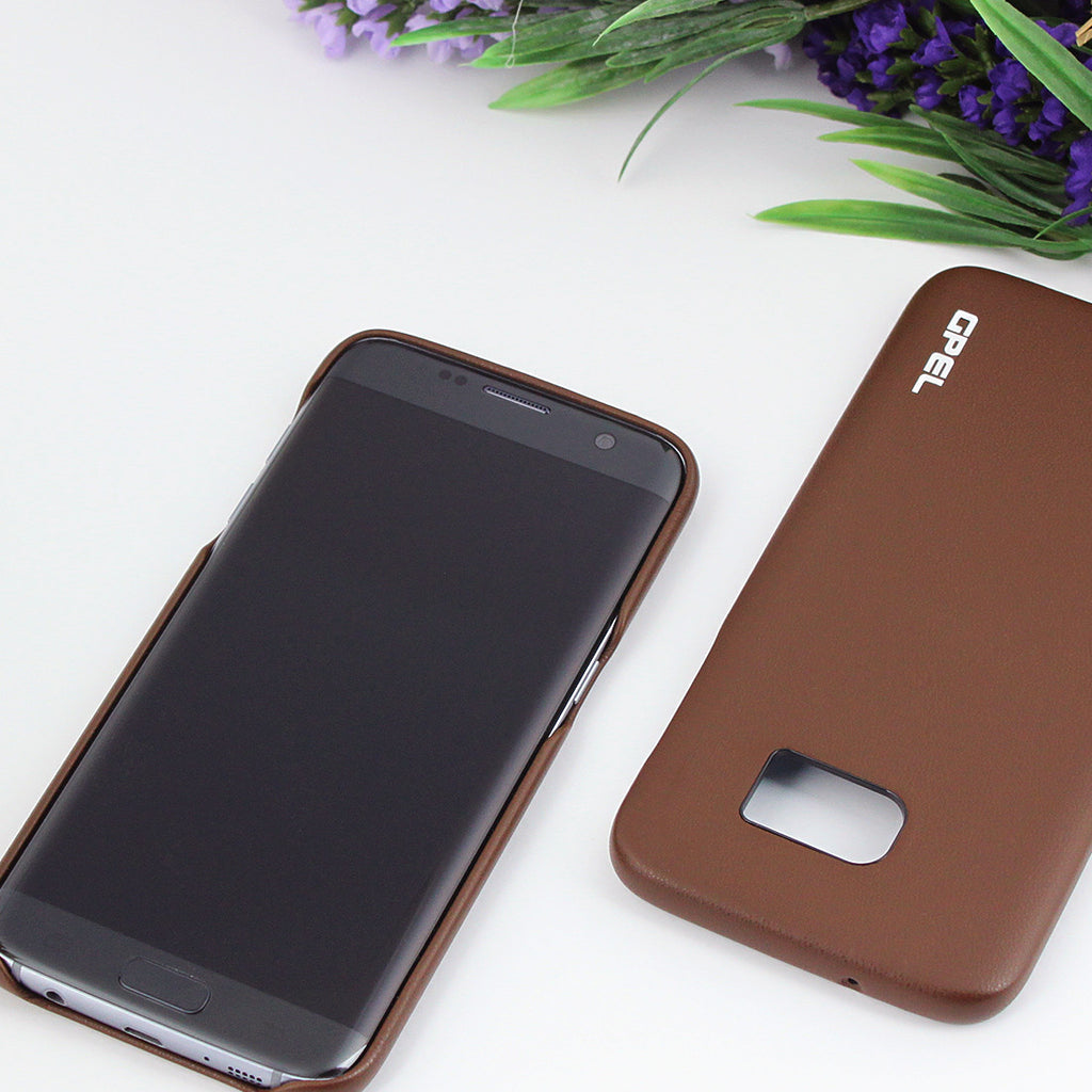 Galaxy S7 Edge GPEL Leather™ Koskin – Brown